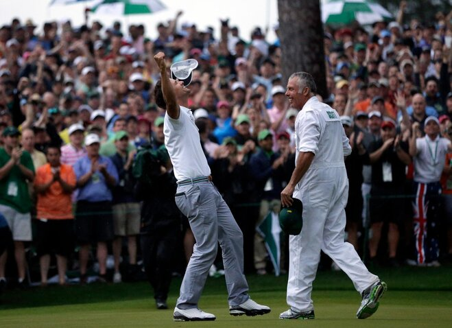 Scott beats Cabrera in a playoff at Augusta