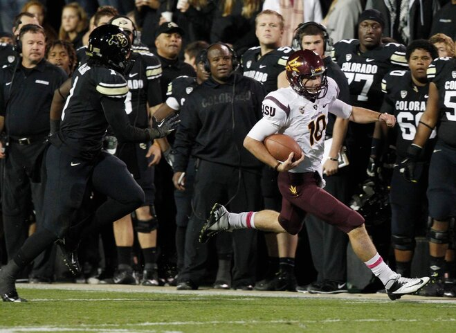 Sun Devils stampede Buffaloes, 51-17