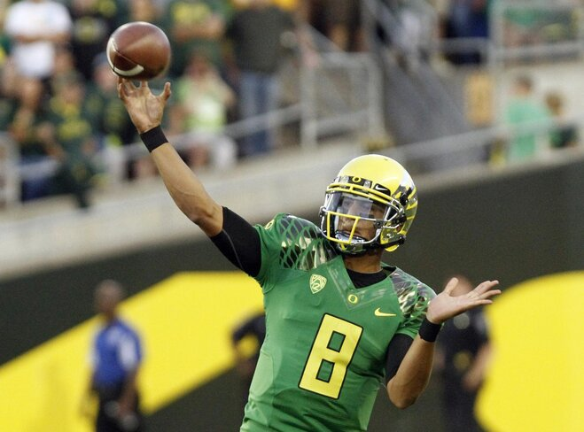 No. 5 Oregon defeats Arkansas State 57-34