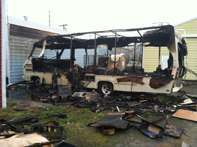 RV fire March 14 in Eugene