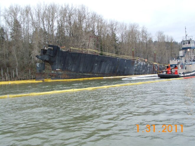 Davy Crockett barge