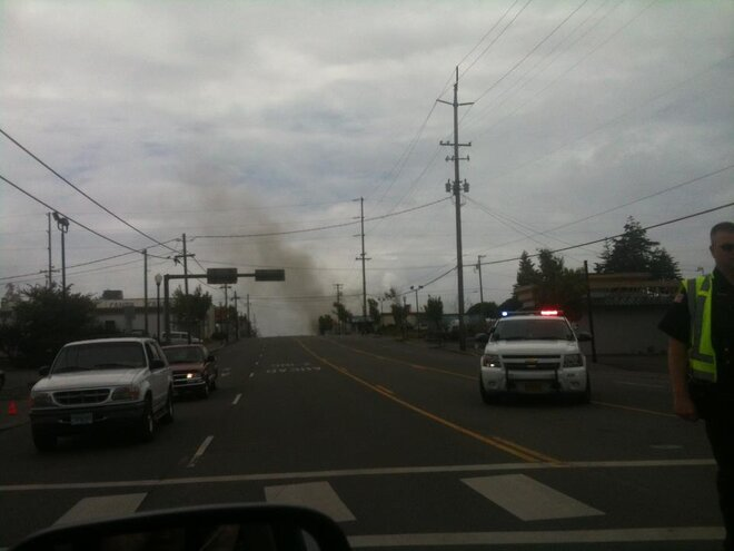 Fire in Coos Bay
