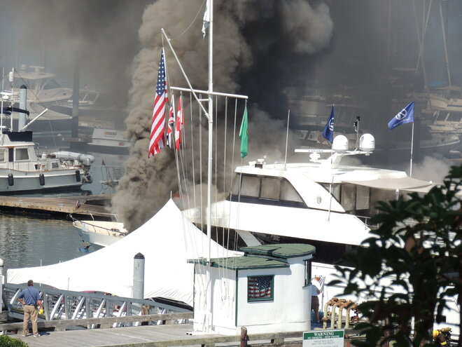 Roche Harbor Yacht Fire
