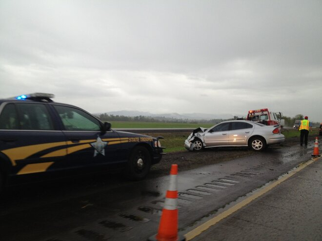 Police: Driver high on drugs crashes into oncoming traffic on I-5