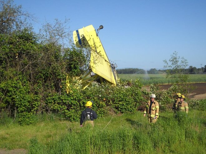 Albany pilot OK after plane crash (2)