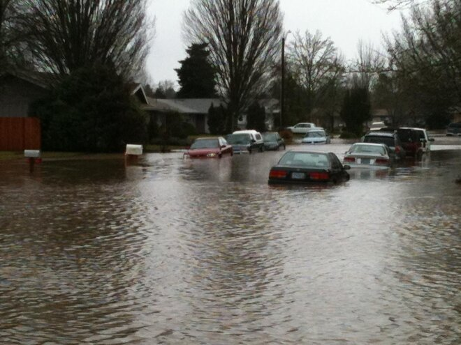 Flooding in Corvallis on January 19, 2012