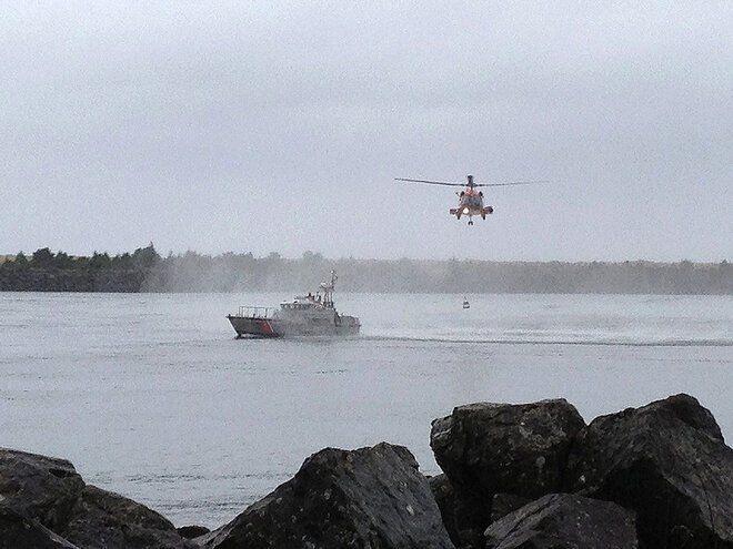 Coast Guard Rescue Drill at Tillamook Bay - Jody Frasier