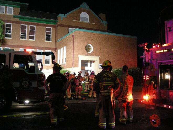 Fire in Albany church July 22 (1)