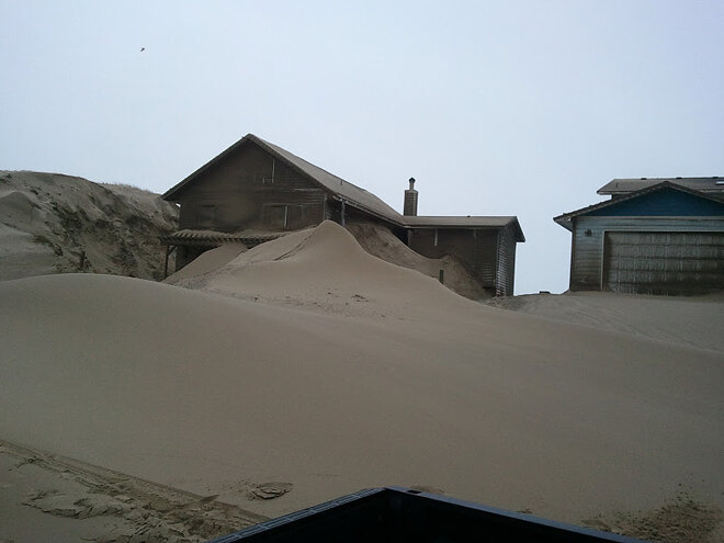 Waldport buried in sand by January 2012 storm (1)