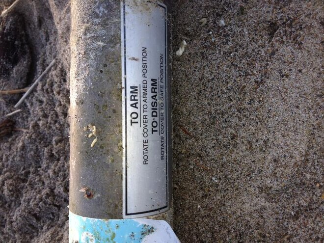 Marine marker found on Oregon Coast October 2