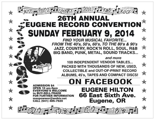 Eugene Record Convention flier