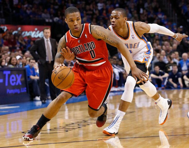Blazers end road trip with 20-point loss at OKC