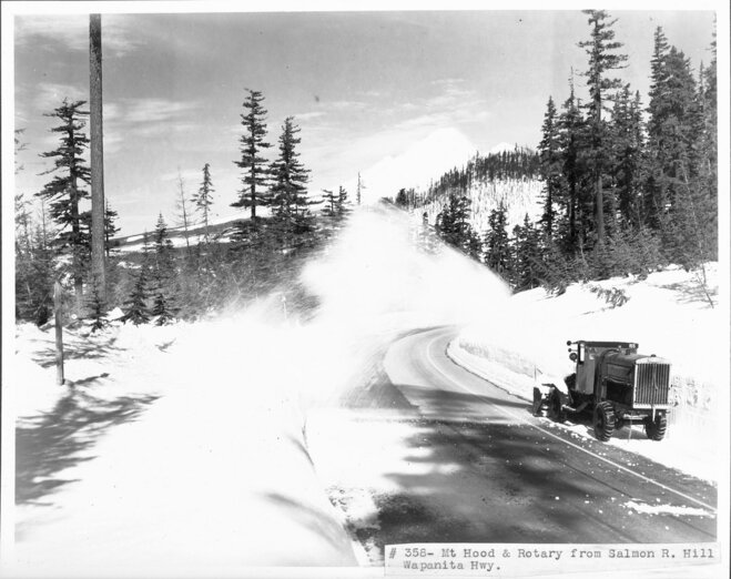 Snow removal on Mount Hood