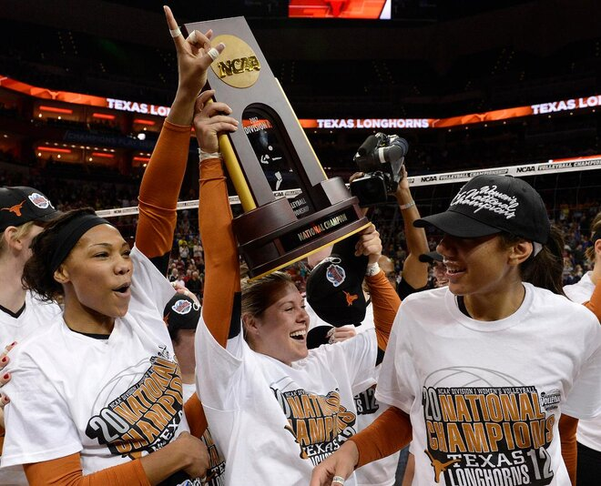 Third-seeded Texas sweeps Oregon for NCAA title