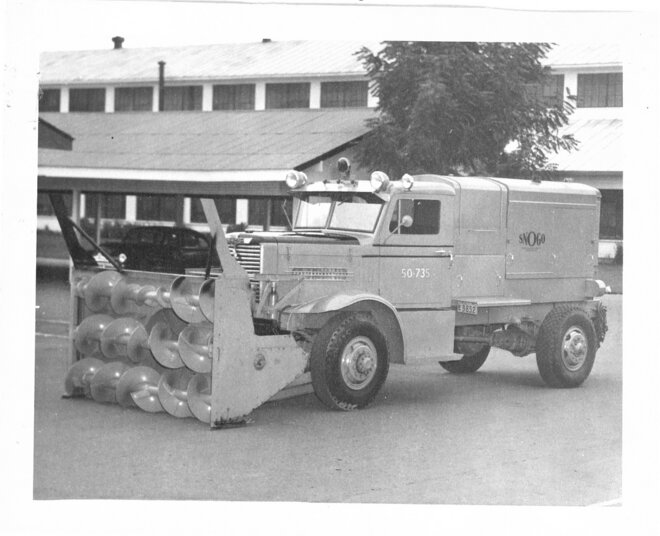 Ice and snow removal equipment 1950