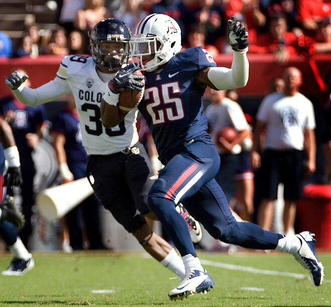 Carey sets Pac-12 rushing record, Arizona clobbers Colorado 56-31