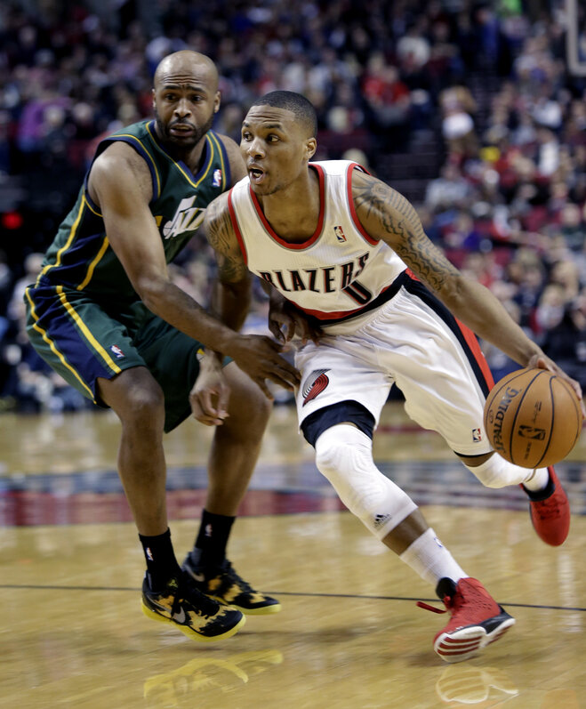 Blazers tune up the Jazz, 105-99