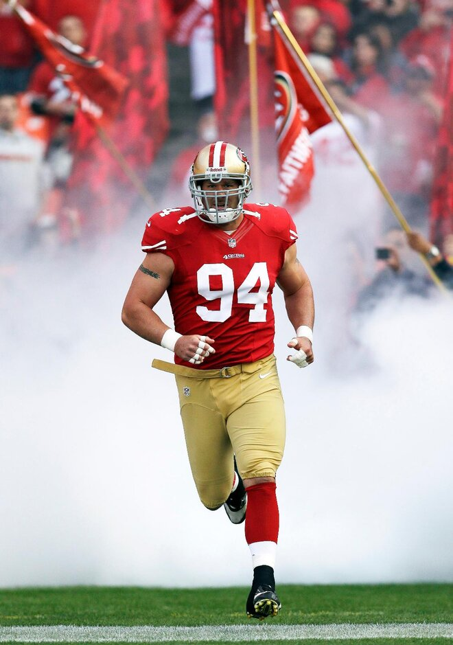 Justin Smith questionable for 49ers