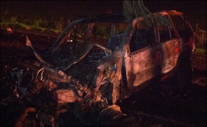 Off-duty deputy rescues two from burning car: 'I couldn't let these people die'