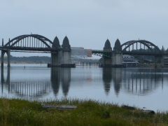 Siuslaw River/Bridge reflection