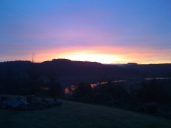 Bandon sunrise over Coquille River
