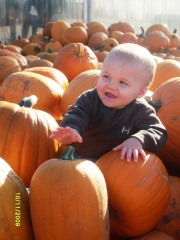 Jake's First Trip to the Pumpkin Patch!