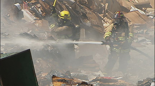 7-21 Recycling Center Fire 1