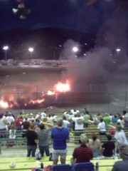 Douglas County Speedway Fire at Races