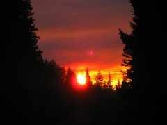 North Umpqua River Sunset