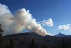 Wildfire burns near Mt. Washington