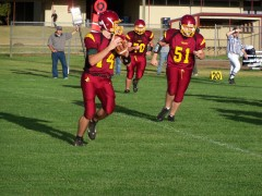 Junction City's JV Football 20-14 win