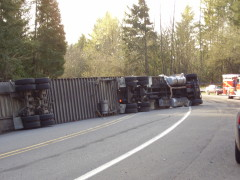Truck Closes Highway 58