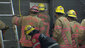 Firefighters rescue woman trapped between buildings (5)