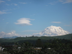 Cloud formations over Mt. Rainier