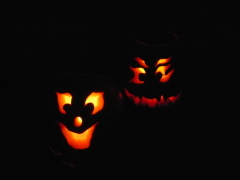 Grand kids carved pumkins