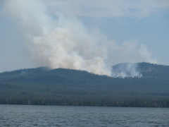 Fire south of Diamond Lake