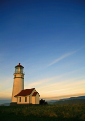 A Lighthouse View of the Sunset