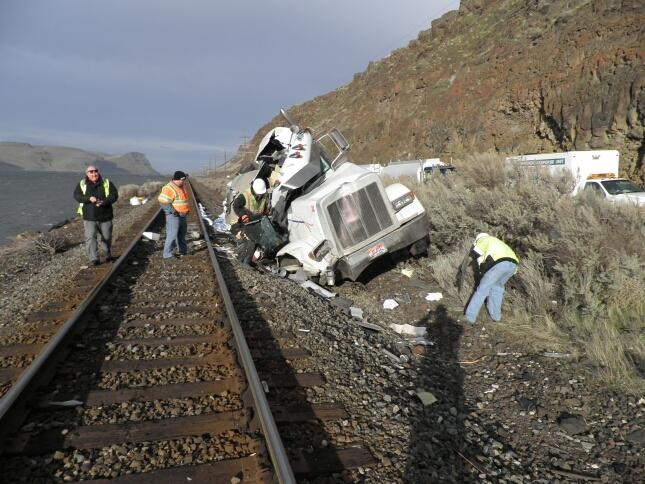 9. Train hits truck hauling jet fuel