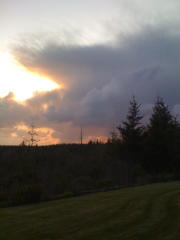 sunst over Bandon on Monday