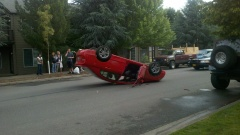 Guy flipped his car