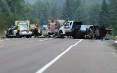 Serious Crash on Highway 20 West