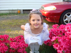 Our Spring Princess in the flowers