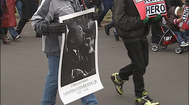 A march to honor Dr. King- 'He is a hero'13