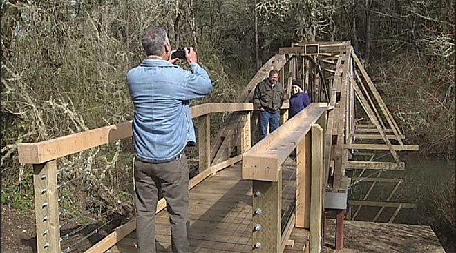 Arboretum bridge condemned in 2009 rebuilt with community's help