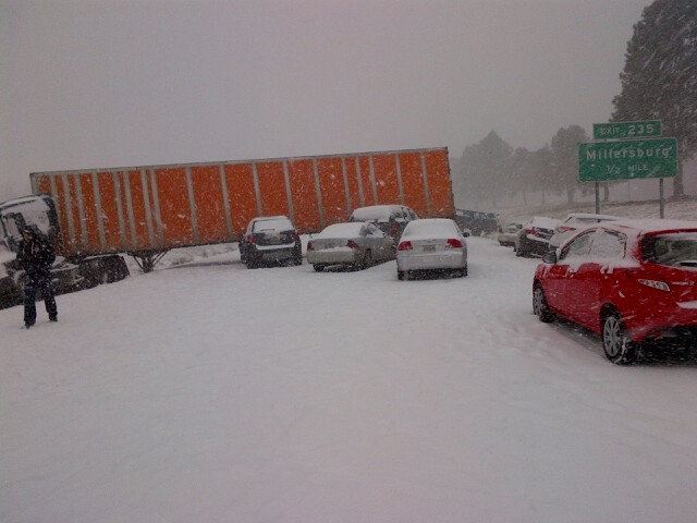 Snow snarls travel as 911 deals with a car crash every 6 minutes