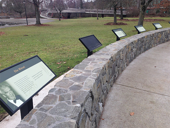 Vandals strike Obama plaque at Nobel Peace Park in Eugene