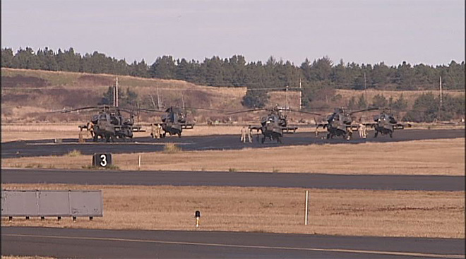 Apache helicopters at airport in North Bend (3)
