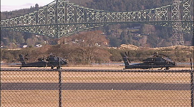 Apache helicopters at airport in North Bend (5)