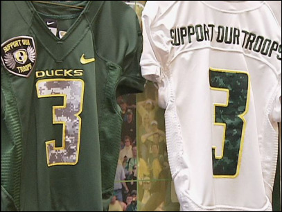 April 2010 Support Our Troops jersey unveiled ahead of Chip Kelly trip to visit Middle East