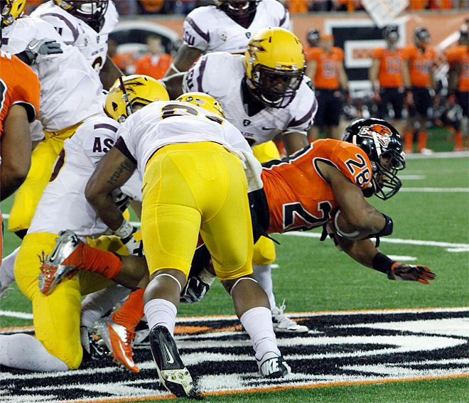 Vaz rides again, Beavers down the Sun Devils, 36-26